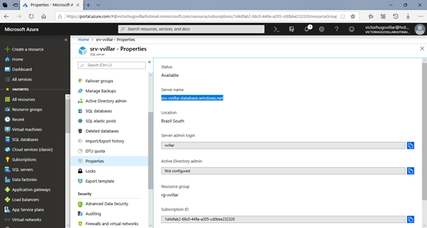 Assessment and migration of a database from SQL Server 2017 to Azure